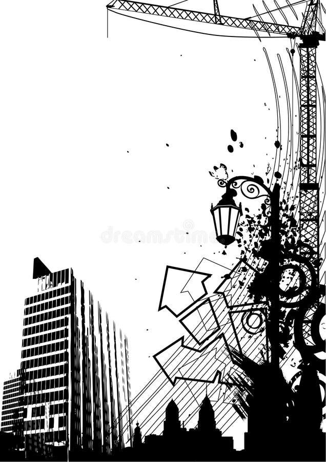 πόλη αστική ελεύθερη απεικόνιση δικαιώματος