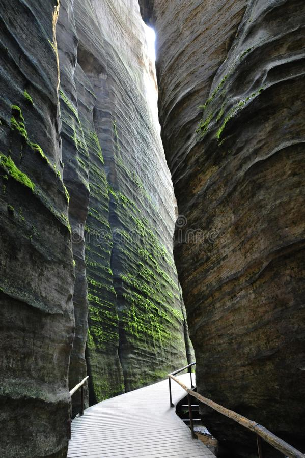 Πόλη βράχου Adrspach - Teplice στη Δημοκρατία της Τσεχίας στοκ φωτογραφία με δικαίωμα ελεύθερης χρήσης