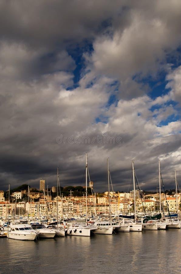 πόλη Γαλλία των Καννών νότια στοκ φωτογραφίες