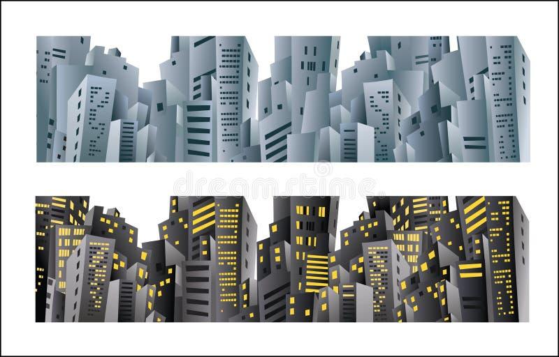 πόλη εμβλημάτων διανυσματική απεικόνιση