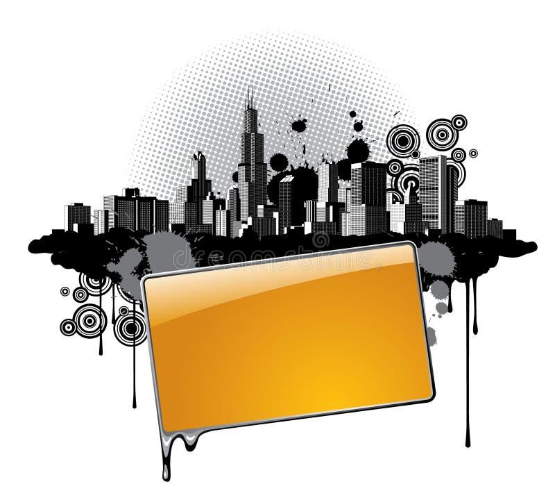 πόλη εμβλημάτων ελεύθερη απεικόνιση δικαιώματος