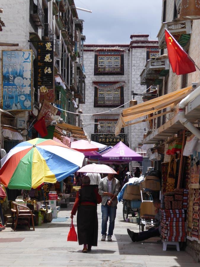 Πόλη Θιβέτ οδών Lhasa στοκ φωτογραφίες με δικαίωμα ελεύθερης χρήσης