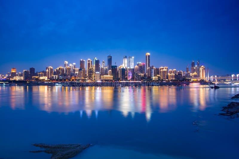 Πόλη και φωτογραφία ποταμών Yangtze στοκ φωτογραφία