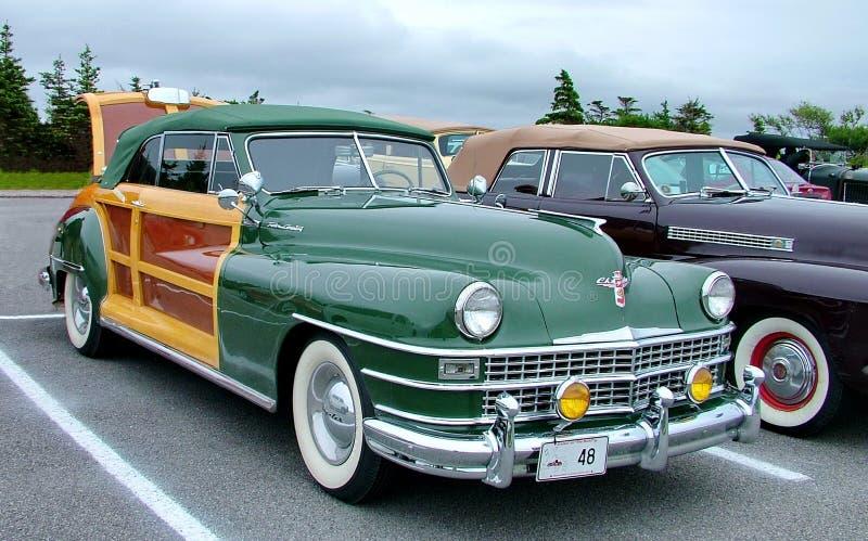 Πόλη και χώρα μετατρέψιμο το 1948 Chrysler στοκ φωτογραφία
