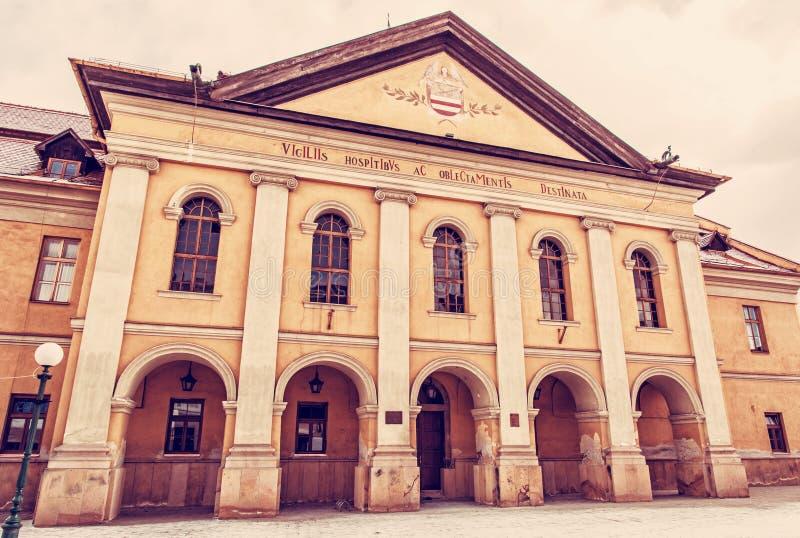 Πόλη κλασικιστών redoubt, Kezmarok, Σλοβακία, κόκκινο φίλτρο στοκ εικόνες