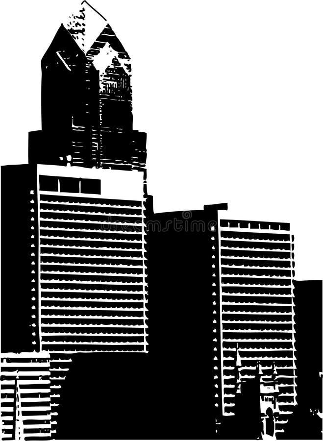 πόλη κτηρίων ανασκόπησης διανυσματική απεικόνιση