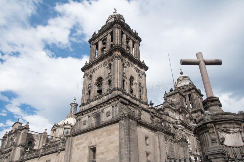 πόλη μητροπολιτικό Μεξικό καθεδρικών ναών στοκ φωτογραφίες