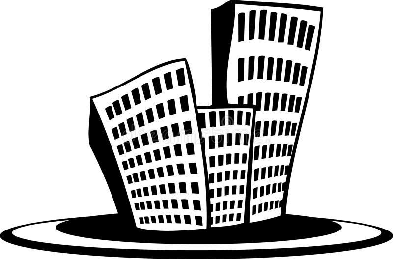 πόλη μικρή απεικόνιση αποθεμάτων