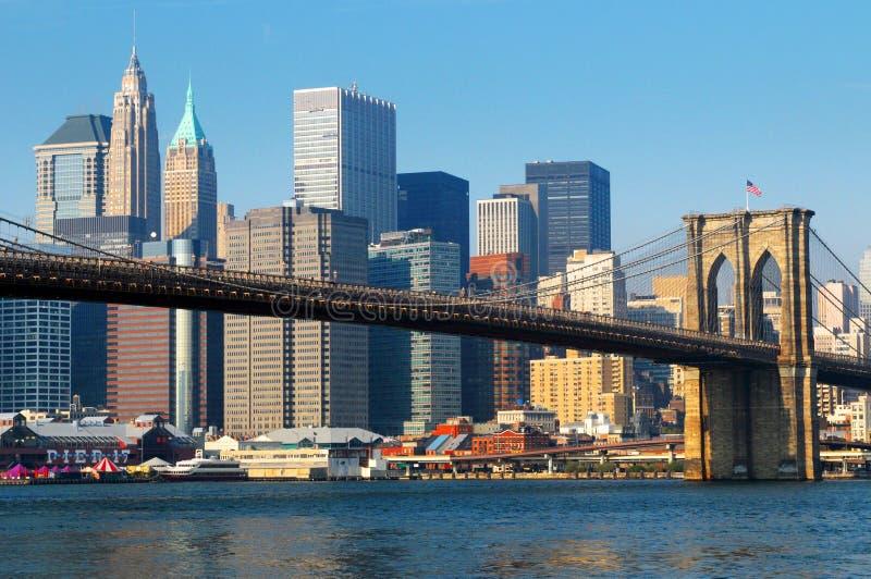 πόλη Νέα Υόρκη του Μπρούκλιν γεφυρών στοκ φωτογραφίες με δικαίωμα ελεύθερης χρήσης