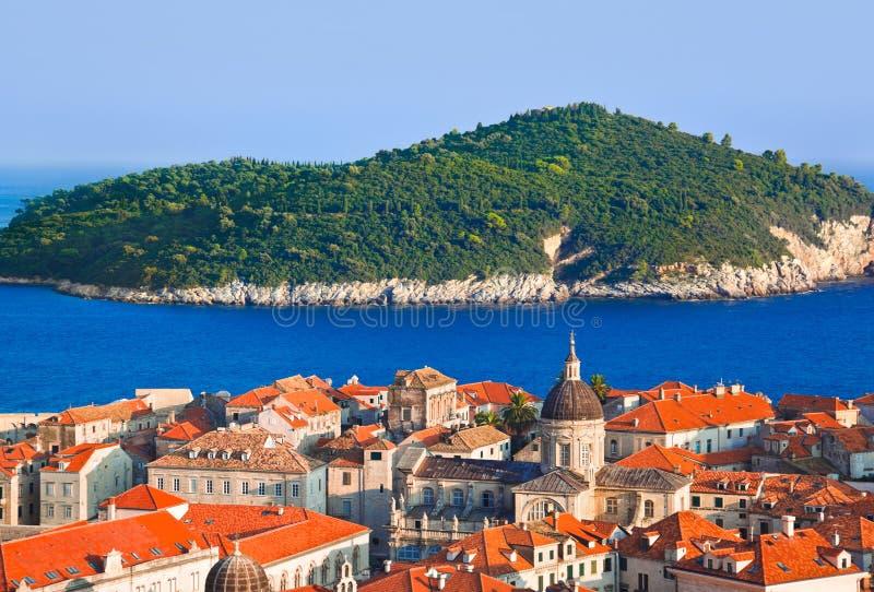 πόλη νησιών της Κροατίας dubrovnik στοκ φωτογραφία με δικαίωμα ελεύθερης χρήσης