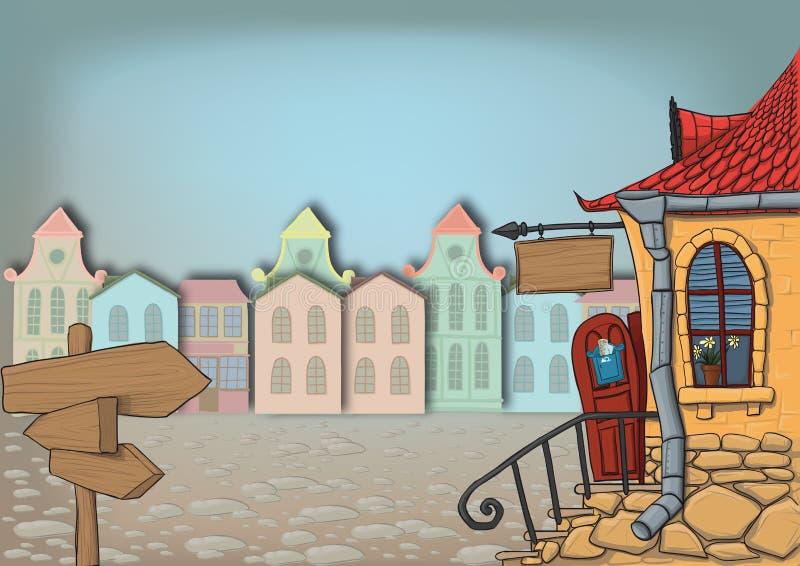 πόλη οδών απεικόνιση αποθεμάτων