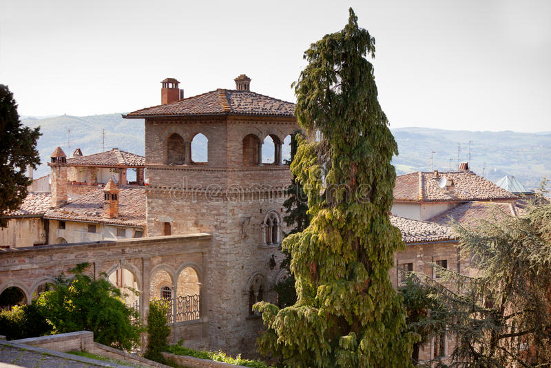 πόλη Ουμβρία todi της Ιταλίας στοκ φωτογραφία με δικαίωμα ελεύθερης χρήσης