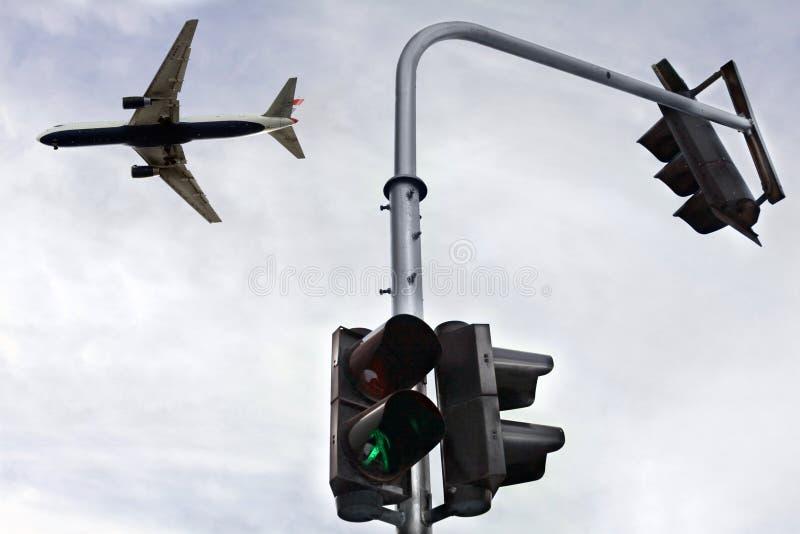 πόλη πέρα από το αεροπλάνο στοκ εικόνα