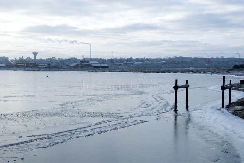 πόλη παγωμένη στοκ εικόνες