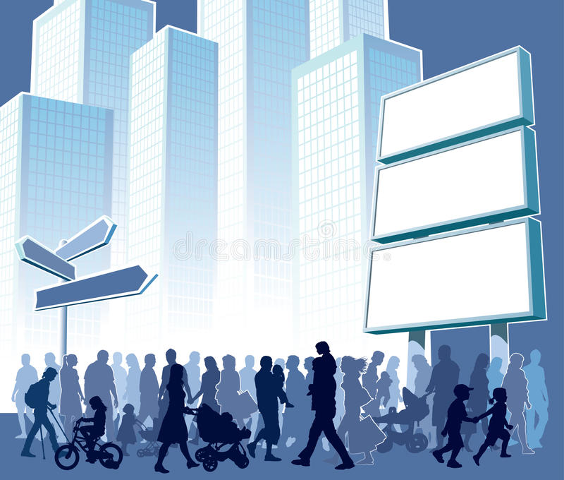 πόλη πλήθους διανυσματική απεικόνιση