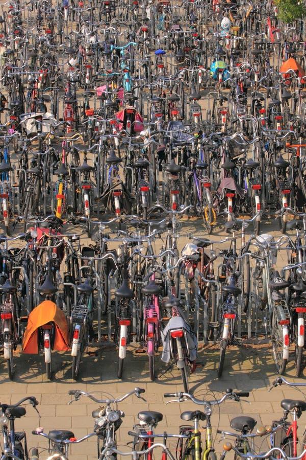 πόλη ποδηλάτων στοκ εικόνα