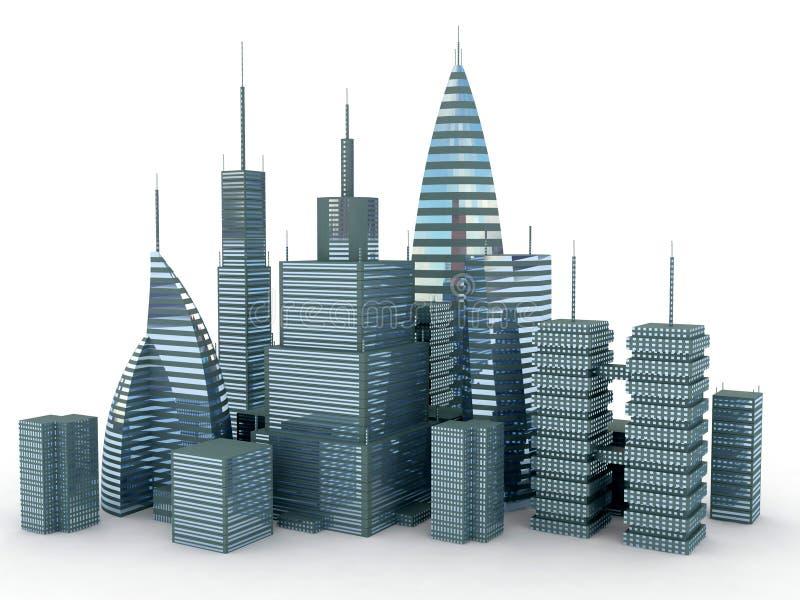 πόλη που απομονώνεται διανυσματική απεικόνιση