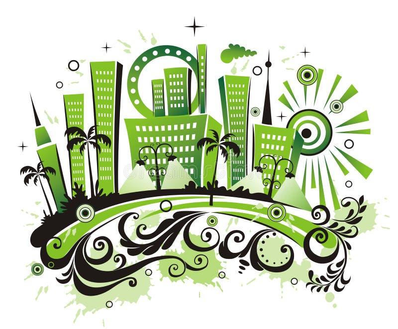 πόλη πράσινη διανυσματική απεικόνιση