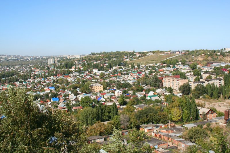 πόλη Σαράτοβ στοκ φωτογραφία