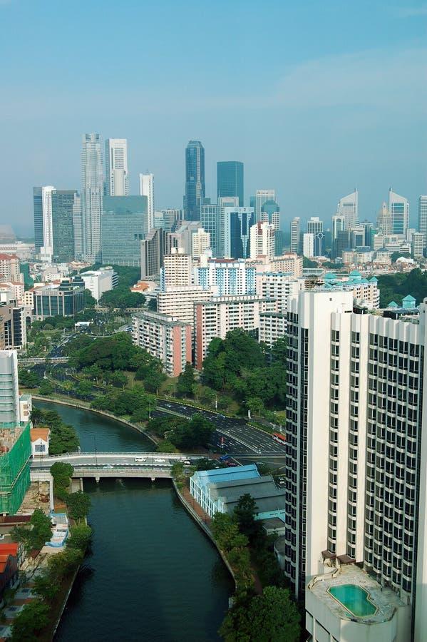 πόλη Σινγκαπούρη στοκ εικόνα