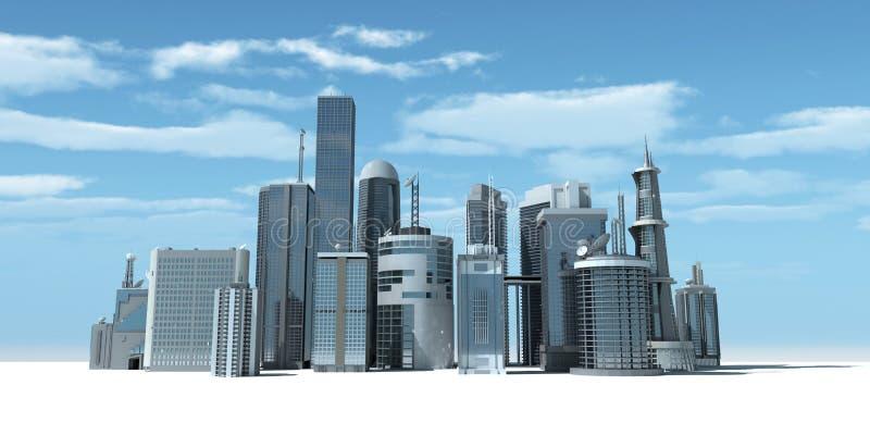 πόλη σύγχρονη ελεύθερη απεικόνιση δικαιώματος