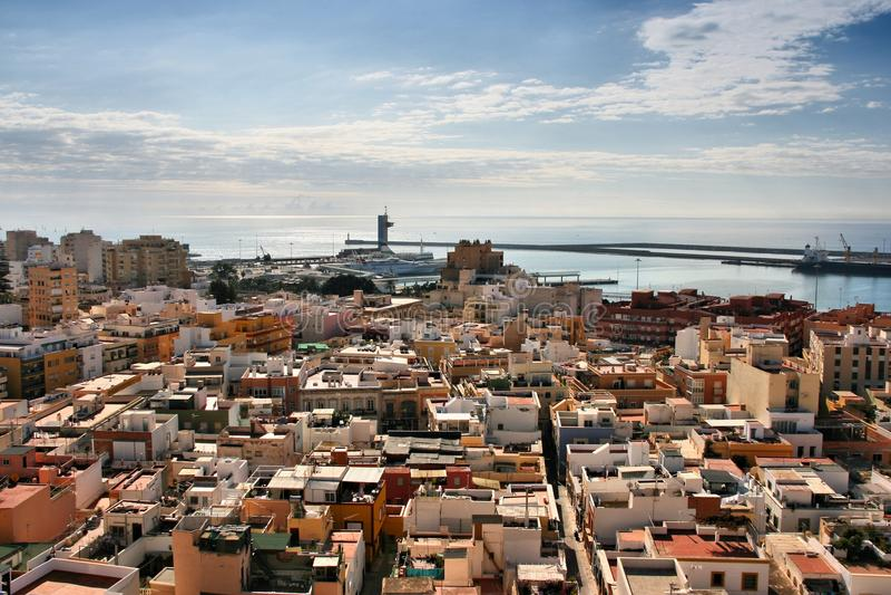 Πόλη της Αλμερία, Ισπανία στοκ φωτογραφία με δικαίωμα ελεύθερης χρήσης