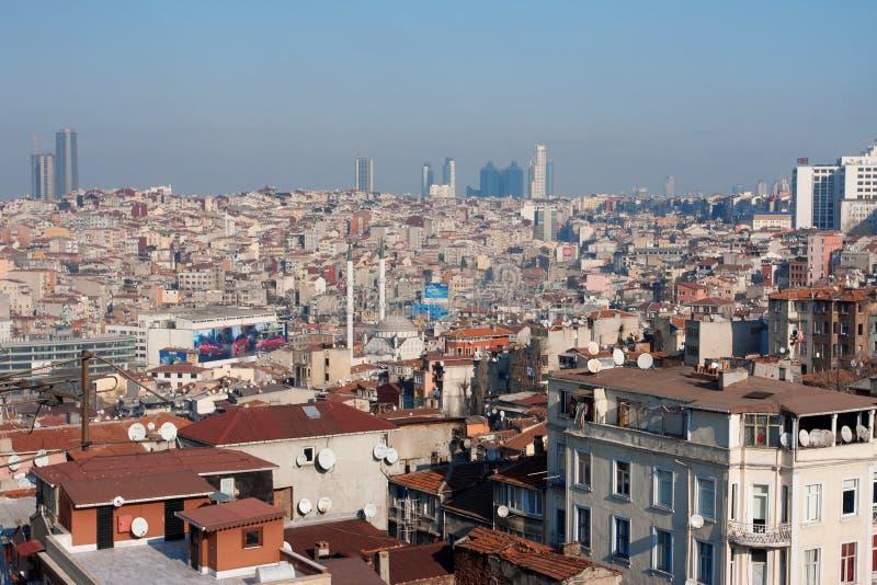 Πόλη της Ιστανμπούλ από ανωτέρω στοκ φωτογραφίες
