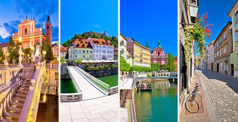 Πόλη της κάρτας τουριστών του Λουμπλιάνα στοκ φωτογραφία με δικαίωμα ελεύθερης χρήσης