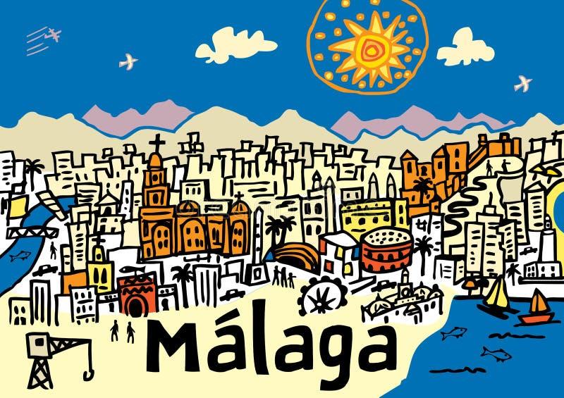 Πόλη της Μάλαγας ελεύθερη απεικόνιση δικαιώματος