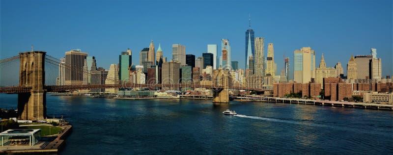 Πόλη της Νέας Υόρκης γεφυρών του Μπρούκλιν στοκ εικόνες με δικαίωμα ελεύθερης χρήσης