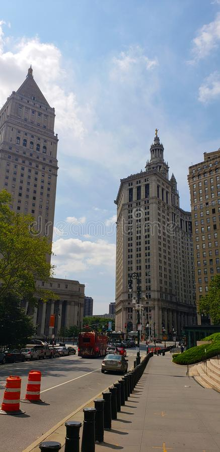 Πόλη της Νέας Υόρκης που χτίζει τη δημοτική περιοχή στοκ φωτογραφία