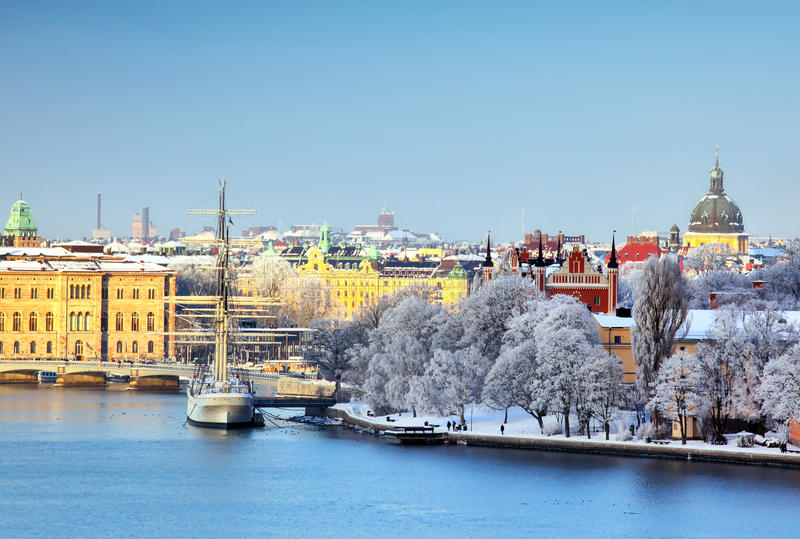 Πόλη της Στοκχόλμης, Σουηδία στοκ εικόνα