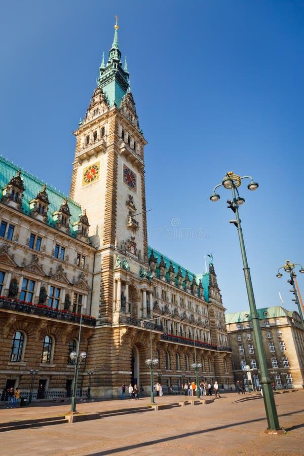 πόλη του Αμβούργο αιθουσών της Γερμανίας στοκ φωτογραφία
