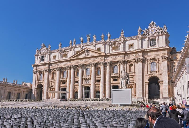 Πόλη του Βατικανού, Ρώμη - το Μάρτιο του 2019: Η παπική βασιλική του ST Peter σ στοκ φωτογραφία με δικαίωμα ελεύθερης χρήσης