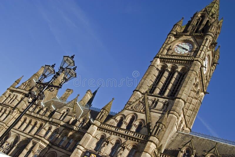 πόλη του Μάντσεστερ αιθουσών της Αγγλίας στοκ φωτογραφία