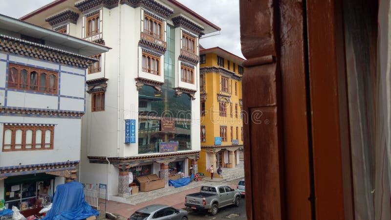 Πόλη του Μπουτάν στοκ φωτογραφίες