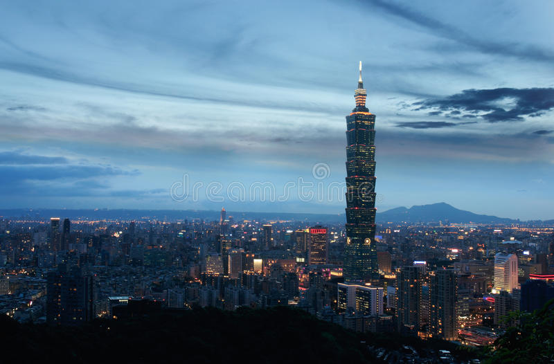 Πόλη του Ταιπέι στοκ εικόνα