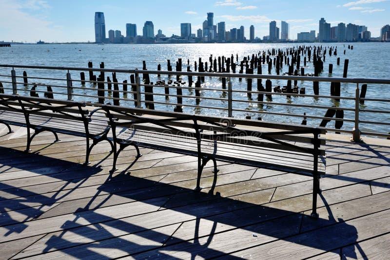 Πόλη του Τζέρσεϋ και προκυμαία Hoboken στοκ φωτογραφία με δικαίωμα ελεύθερης χρήσης