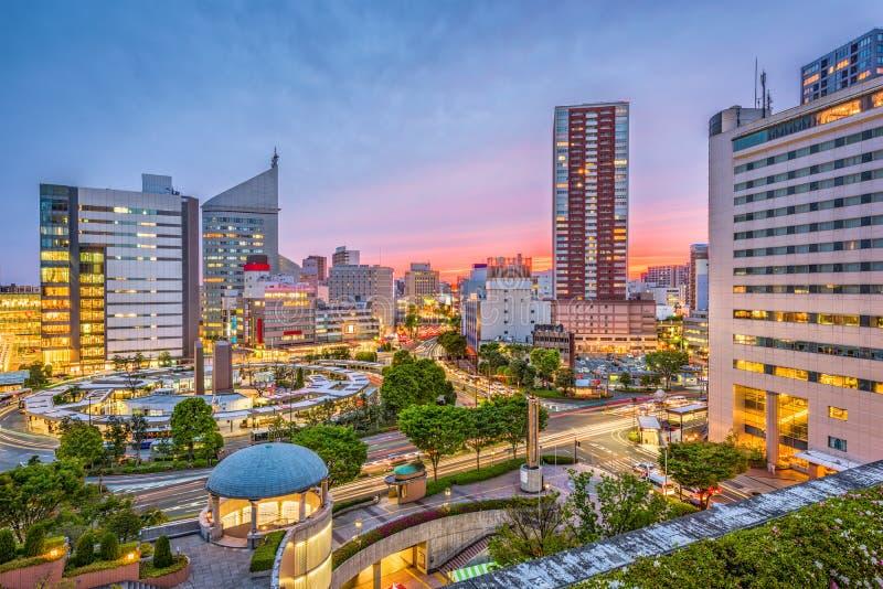 Πόλη του Χαμαμάτσου, εικονική παράσταση πόλης της Ιαπωνίας στοκ φωτογραφία
