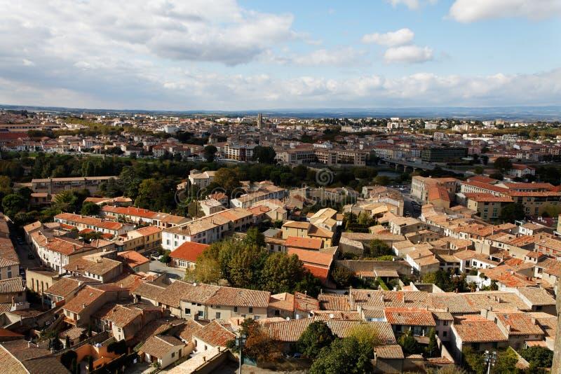 πόλη του Carcassonne βάσεων Στοκ Φωτογραφία