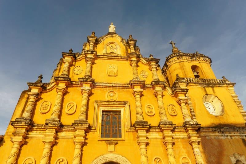 Πόλη του Leon, Νικαράγουα, recoleccion Λα iglesia Εκκλησία στοκ φωτογραφία