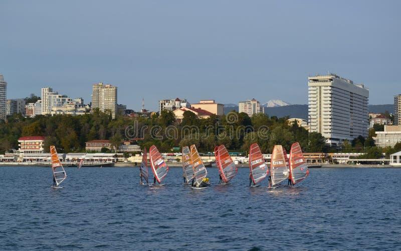 Πόλη του Sochi - θέρετρο, το ολυμπιακό κεφάλαιο στοκ φωτογραφία με δικαίωμα ελεύθερης χρήσης