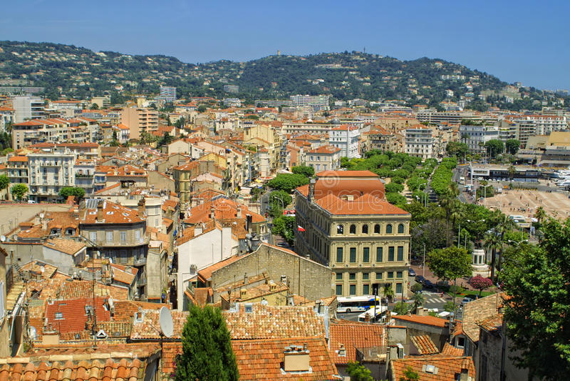 Πόλη των Καννών, Γαλλία στοκ εικόνα