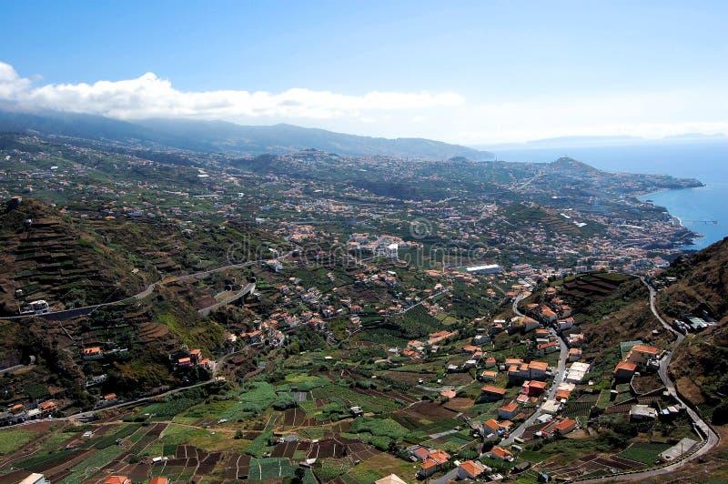 πόλη Φουνκάλ πανοραμικό στοκ εικόνες με δικαίωμα ελεύθερης χρήσης