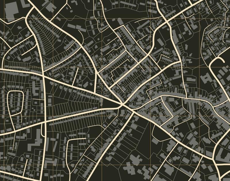 πόλη χαρτών ελεύθερη απεικόνιση δικαιώματος