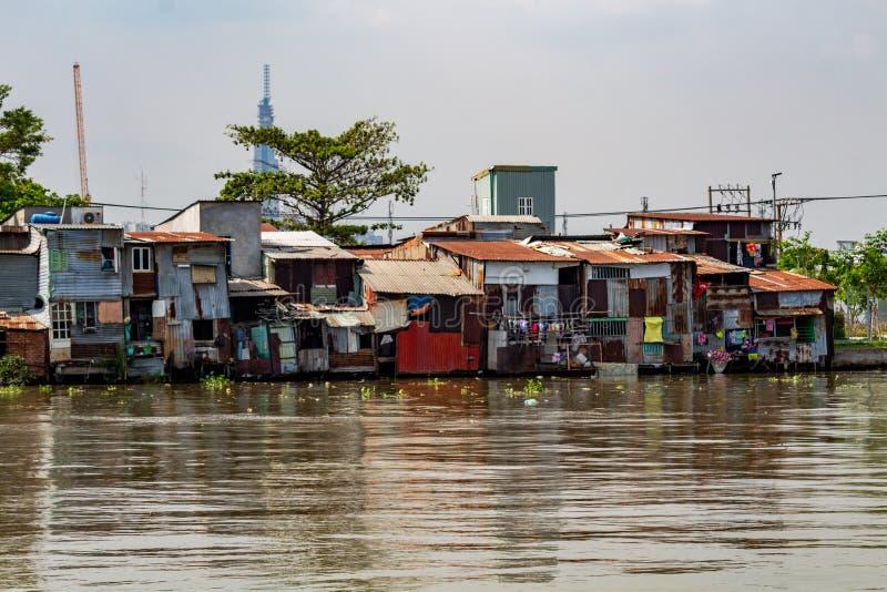 Πόλη Χο Τσι Μινχ φτωχών γειτονιών στοκ φωτογραφία με δικαίωμα ελεύθερης χρήσης