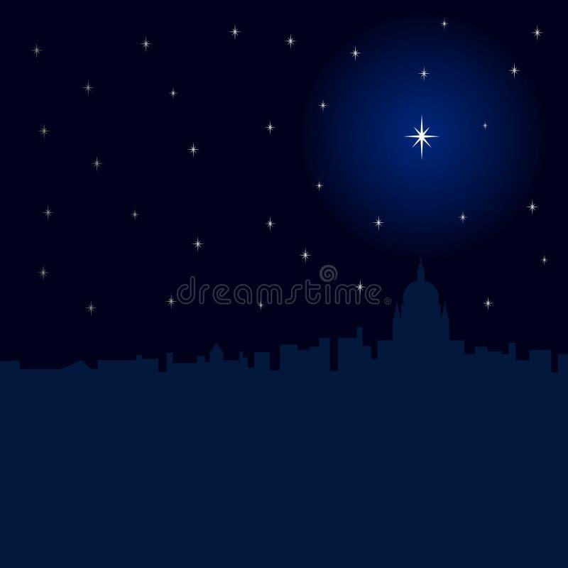 πόλη Χριστουγέννων διανυσματική απεικόνιση