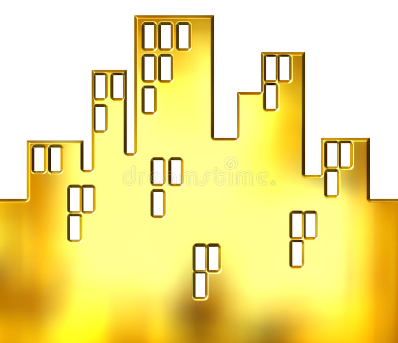 πόλη χρυσή ελεύθερη απεικόνιση δικαιώματος