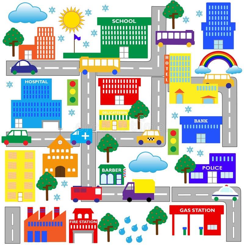 πόλη 2 απεικόνιση αποθεμάτων