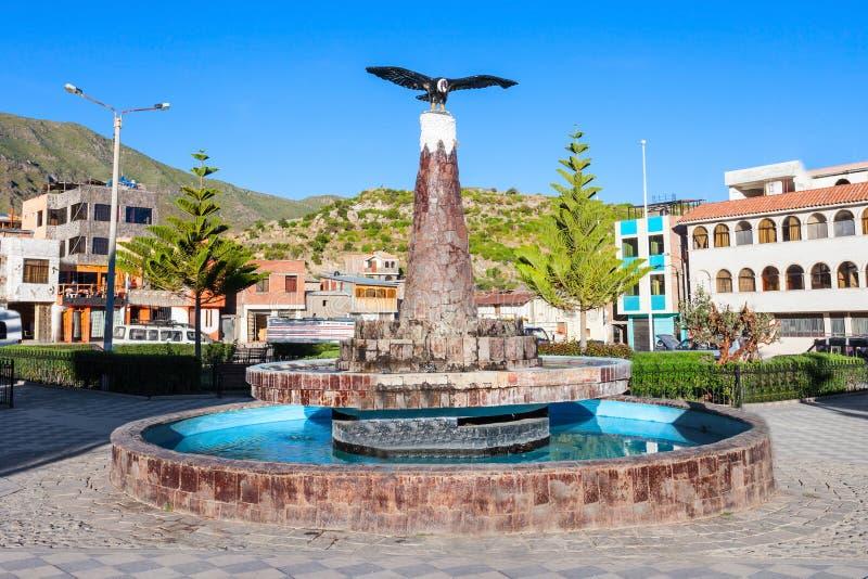 Πόλη Cabanaconde, Περού στοκ εικόνες με δικαίωμα ελεύθερης χρήσης